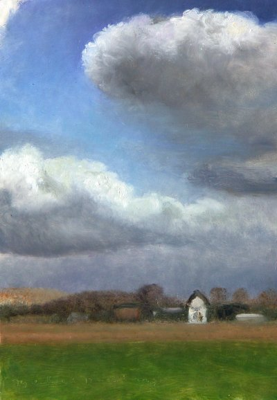 Cloudy sky and house in Siebengewald (Holland)