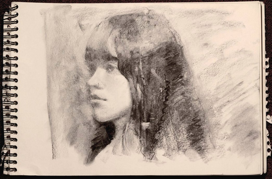 Model Class - Charcoal Drawing