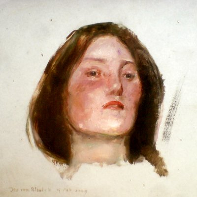 Portrait sketch after Waterhouse