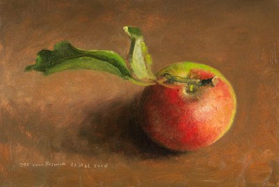 Still life with Apple and Leaf
