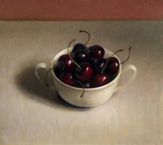 Still with cup of cherries