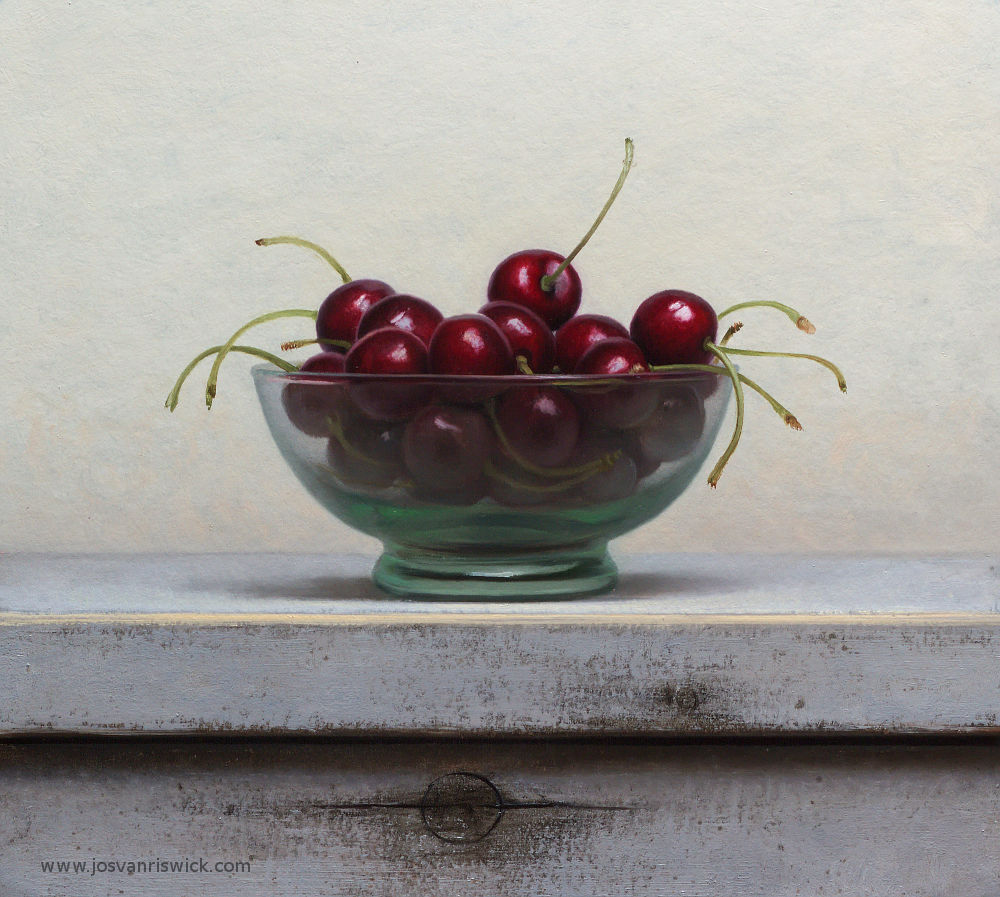 Traditional Still life with cherries