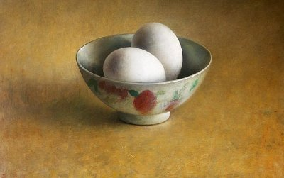 Bowl with eggs