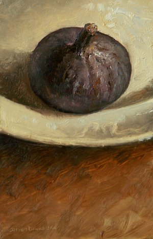 Still life with Fig on Plate
