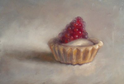 Still life fruit pie