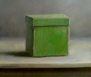 Still life with green box