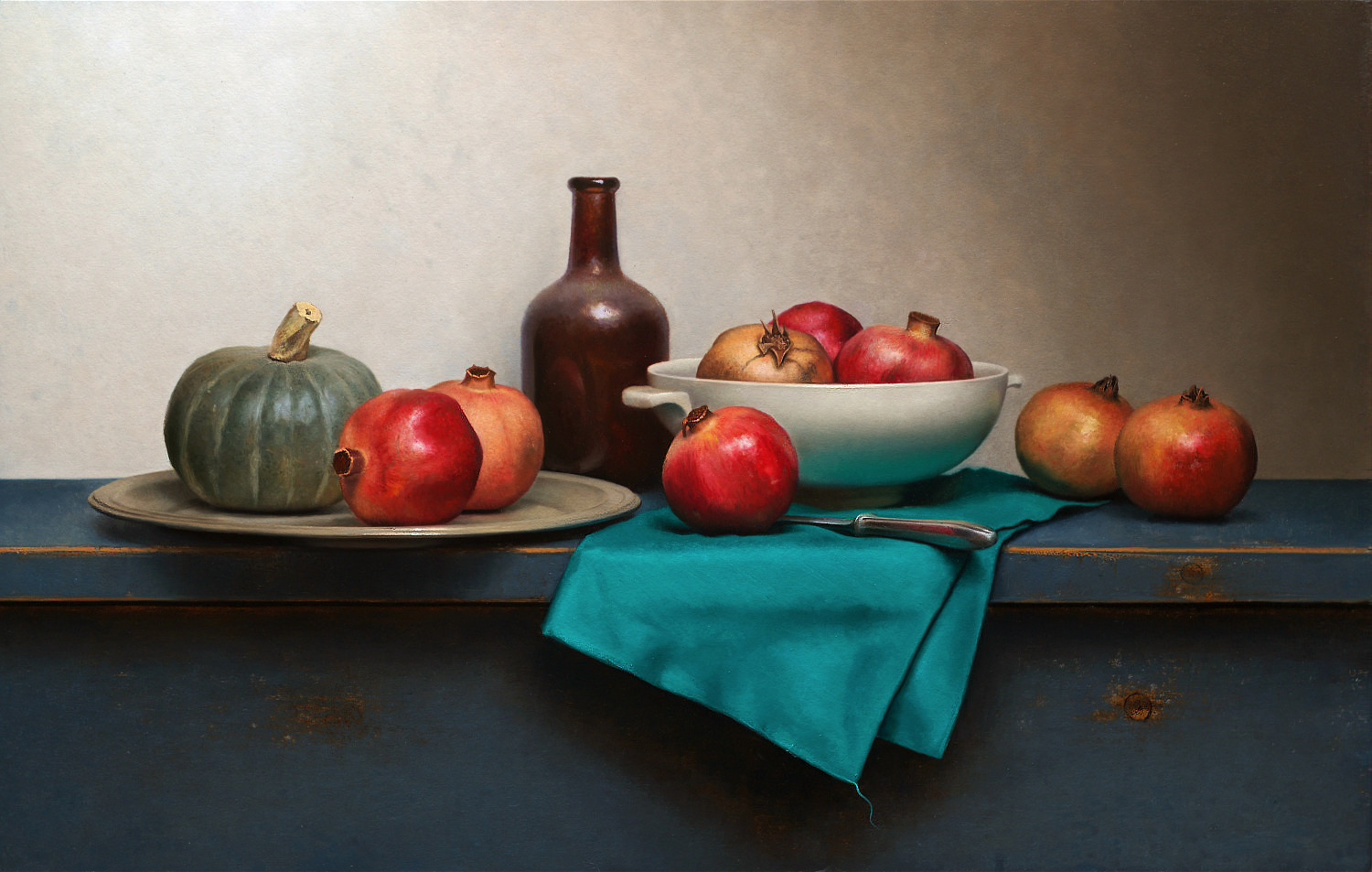 Traditional Dutch Still life with green napkin