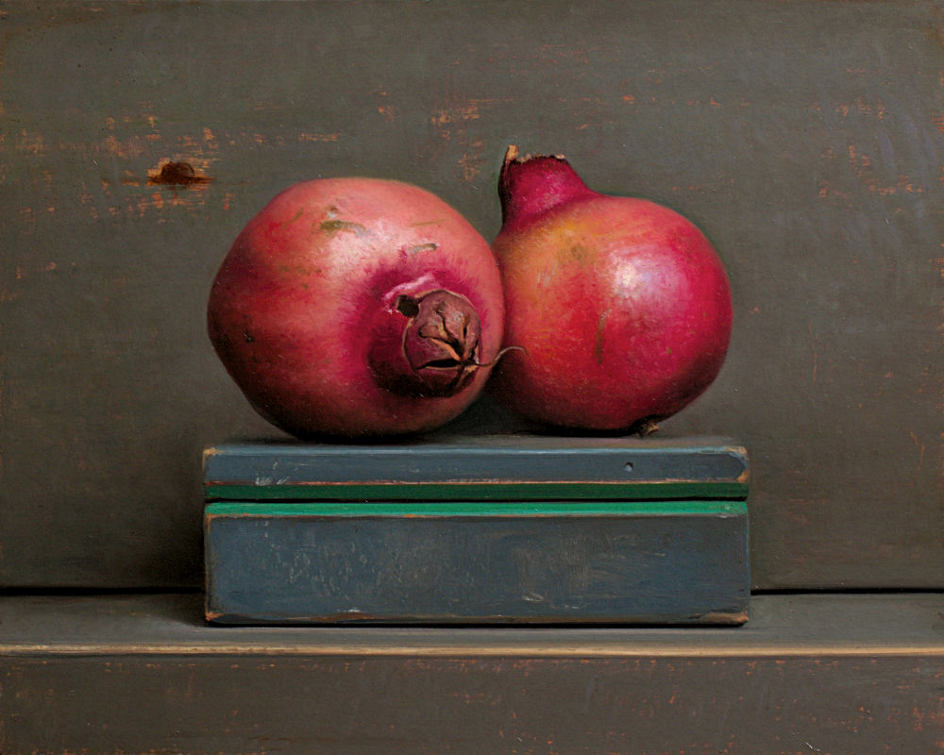 Still life with pommegranates