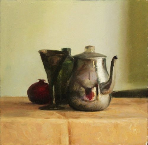 Still life with teapot and cup