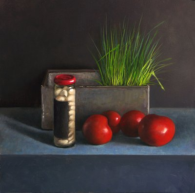 Developing a still life painting