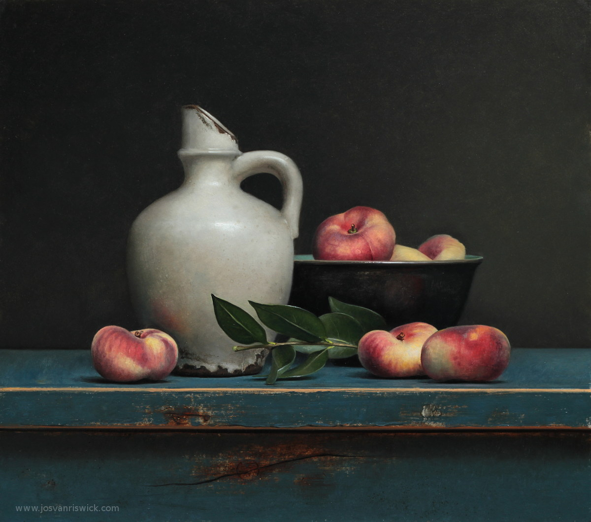 Still life with wild peaches